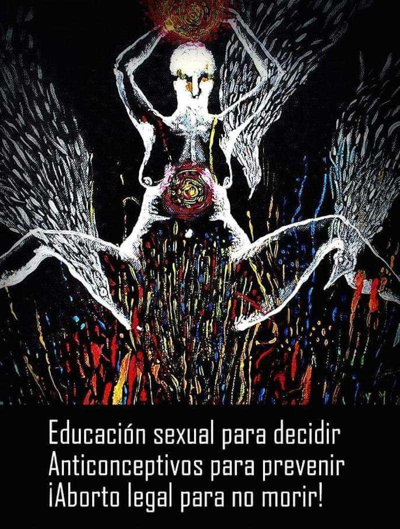 Mujer, su cuerpo, su libertad, 2015. Ilustración para Útero Rebelde, ©Pola Maulén