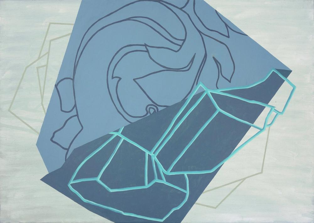 S/T (Serie Drapeados) | Óleo y grafito sobre tela | 50 x 70 cm | 2016