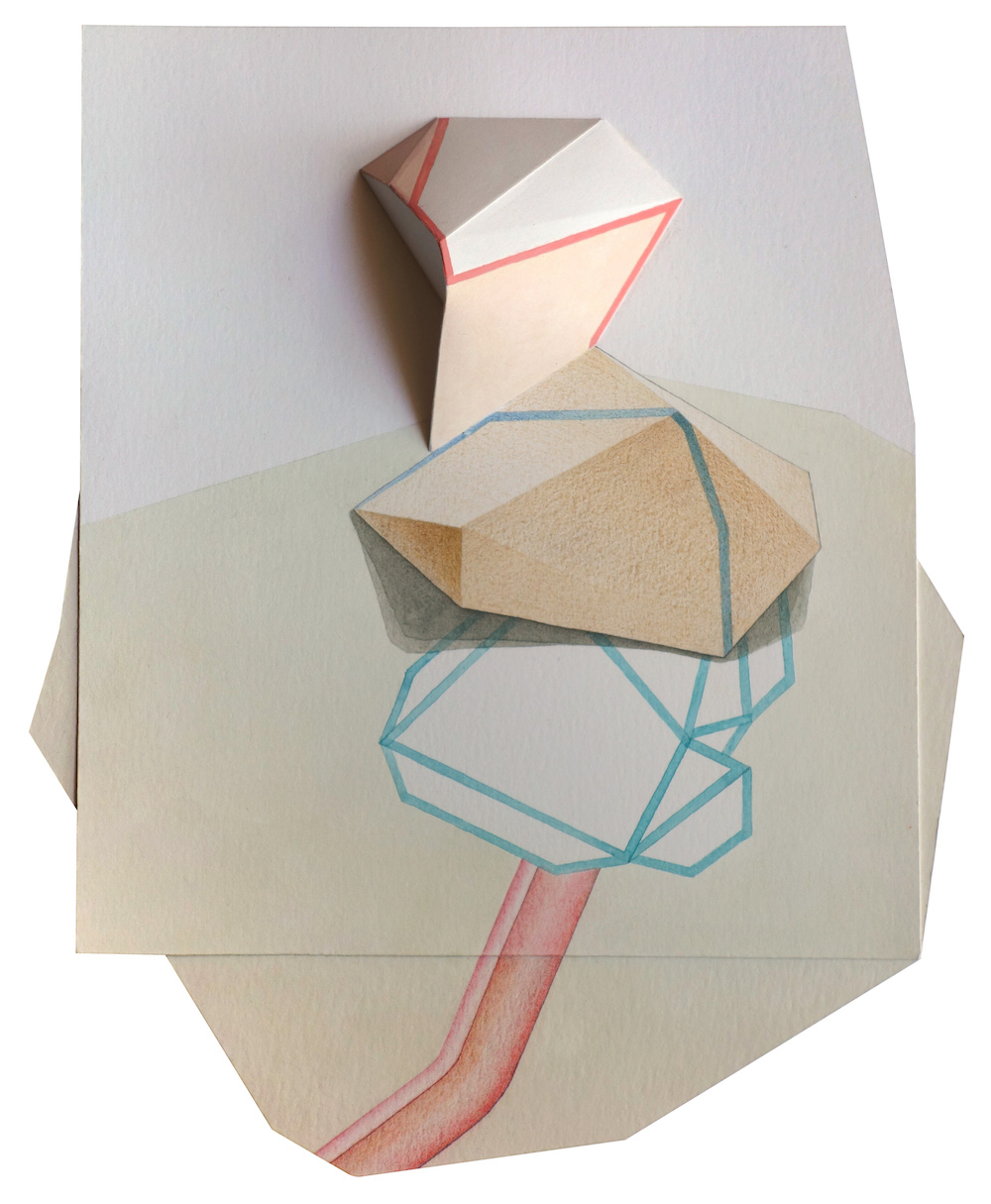 S/T (Serie Leyes de Maclas) | Gouache, acuarela, grafito y lápices de color sobre papel | 27,5 x 22,5 x 4 cm | 2016