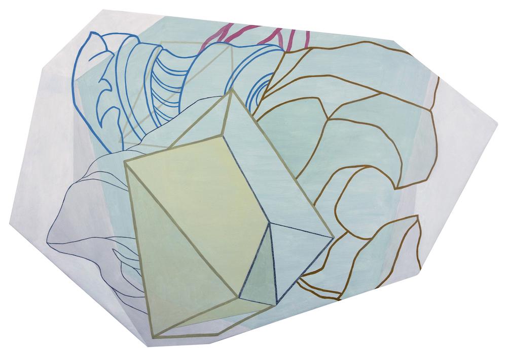 S/T (Serie Leyes de Maclas) | Óleo y grafito sobre tela | 50 x 70 cm | 2017