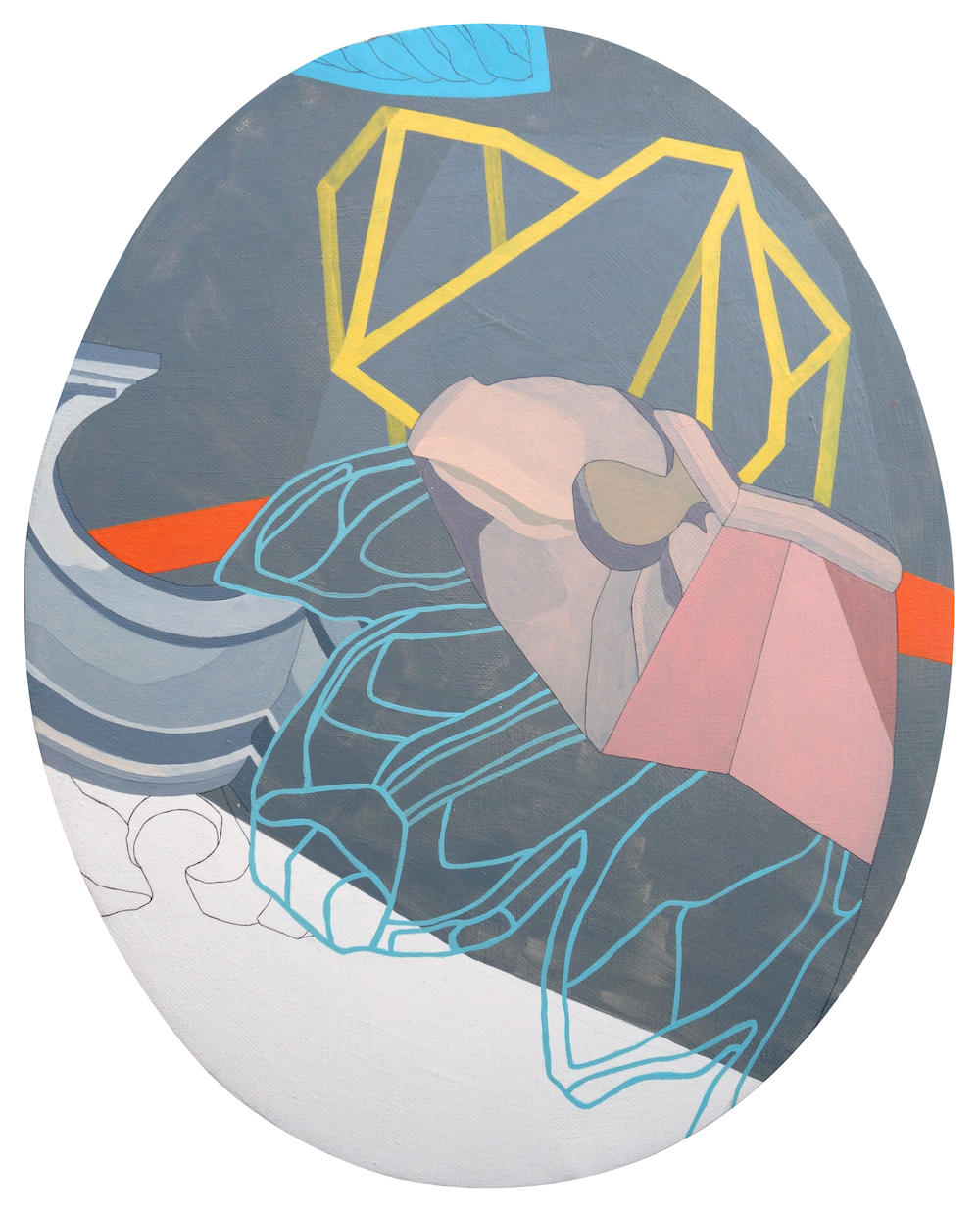10- ST (Serie Drapeados) Óleo y grafito sobre tela 33,6 x 27 cm 2016