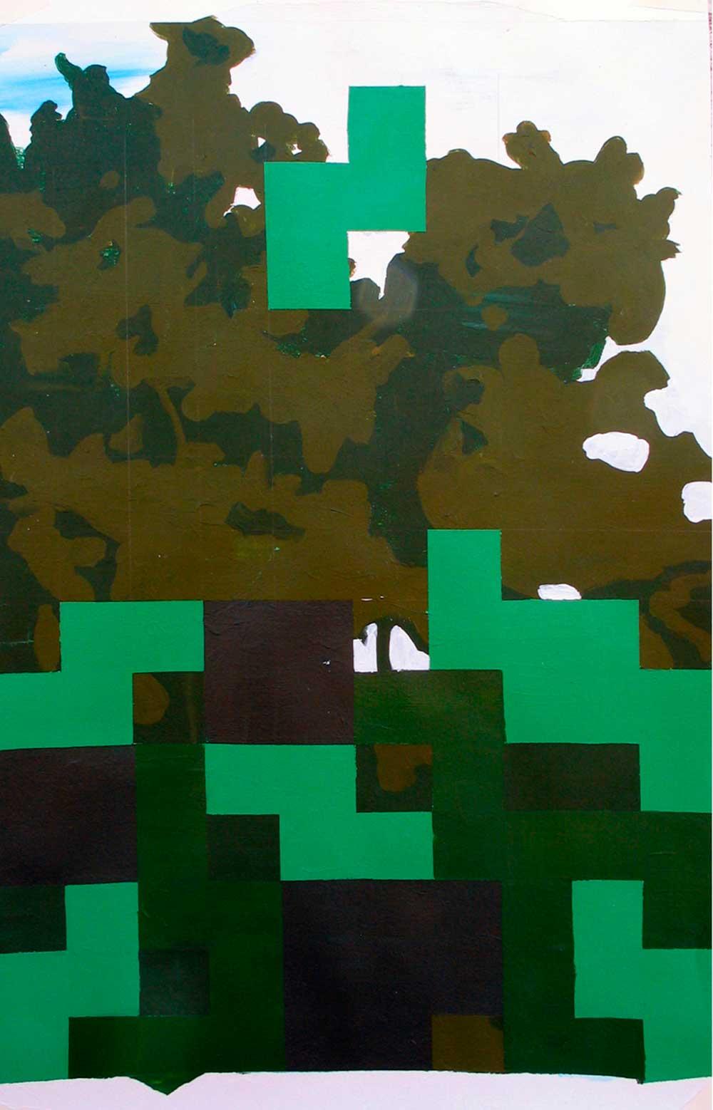 © Ana Barriga   El juego I, 2011. Acrílico sobre papel, 70 x 50 cm.
