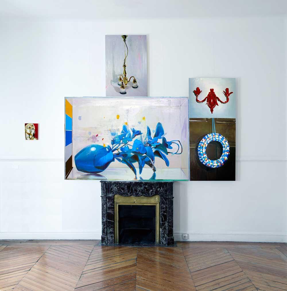 © Ana Barriga   Hablemos de mañana, 2015, Óleo y esmalte sobre tela, 195 x 116cm