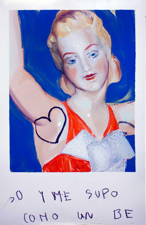 © Ana Barriga | Macorina, 2015, Óleo sobre papel, 74 x 46cm.