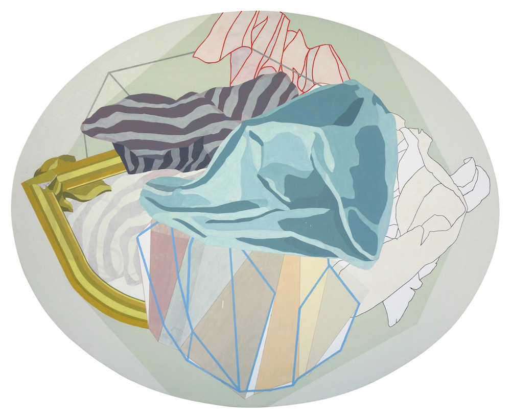 S/T (Serie Drapeados) | Óleo y grafito sobre tela | 122 x 150 cm | 2016