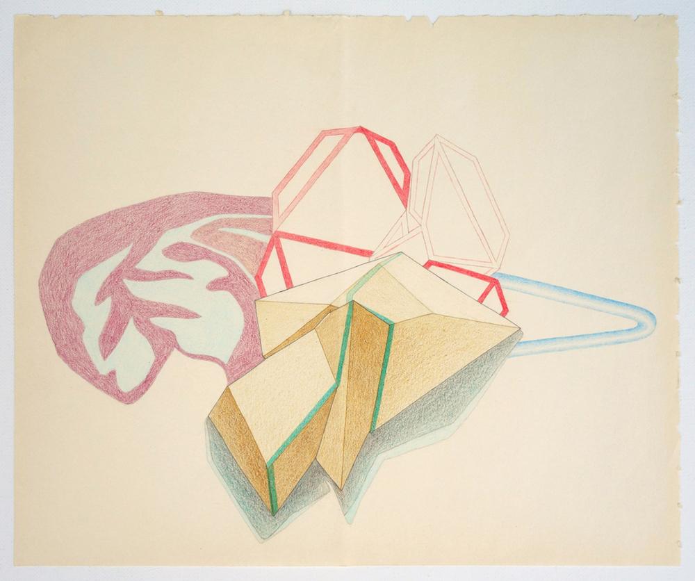 S/T (Serie Leyes de Maclas) | Lápices de color y grafito sobre papel | 22,5 x 27 cm | 2016