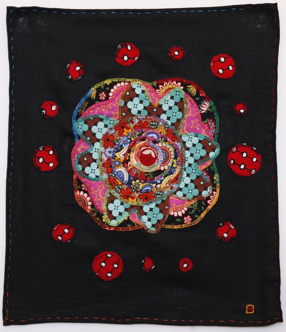 Una sola, bordado sobre tela, 60 x 70 cm, 2014. Foto: Dolores Ochoa