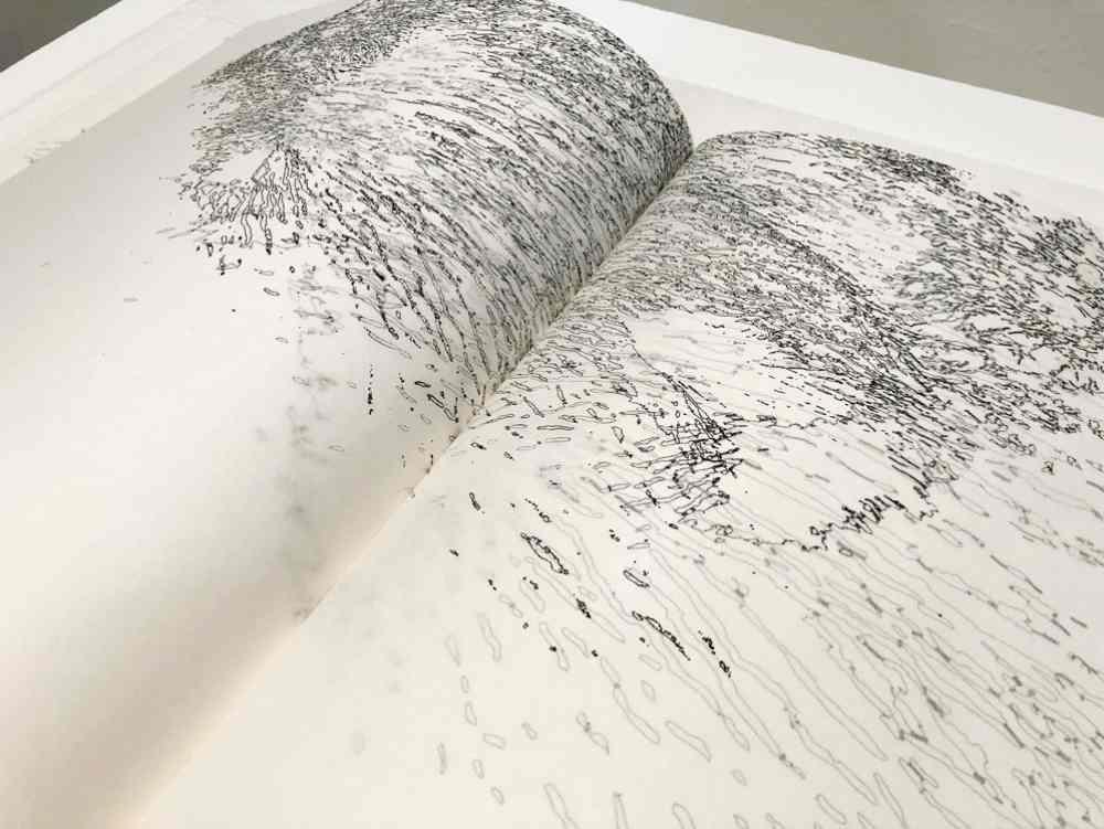 Libro de Artista: 12-25/ 71-84,(detalle) 2018. Alexandra Rodríguez Rey
