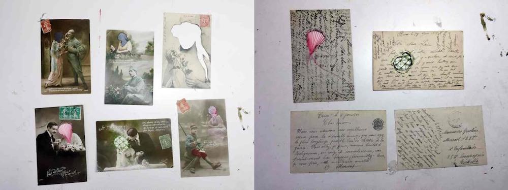 """""""Adiós a la Rochelle"""" (anverso) y (reverso), fotografías de Beatriz Pereira."""