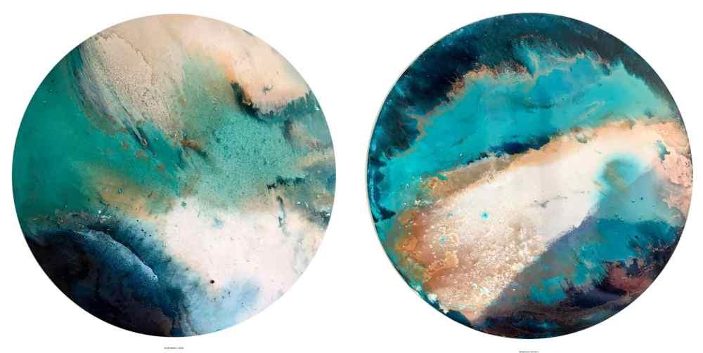 Blue Origin I - II , Técnica mixta, 100 cm