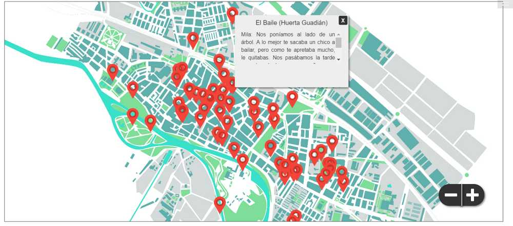 """Mapa interactivo de """"La narración de la memoria"""""""