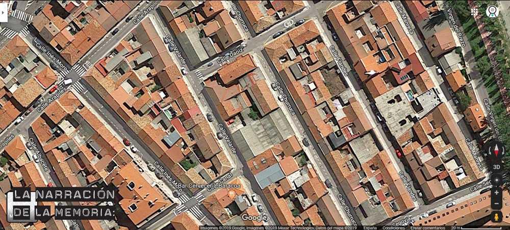 Las casas molineras de El Cristo, en vista aérea, donde Beatriz pasó su infancia.