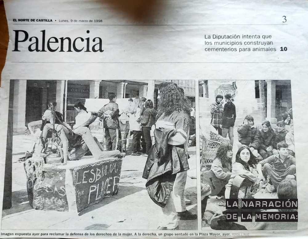 Recorte de El Norte de Castilla, 1998, del Día de la Mujer en el que Ángeles participó.