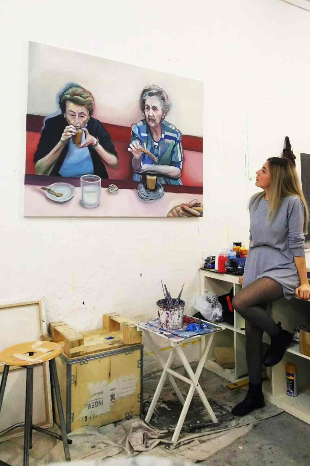 Elvira Martos en el estudio. ©Elvira Martos.