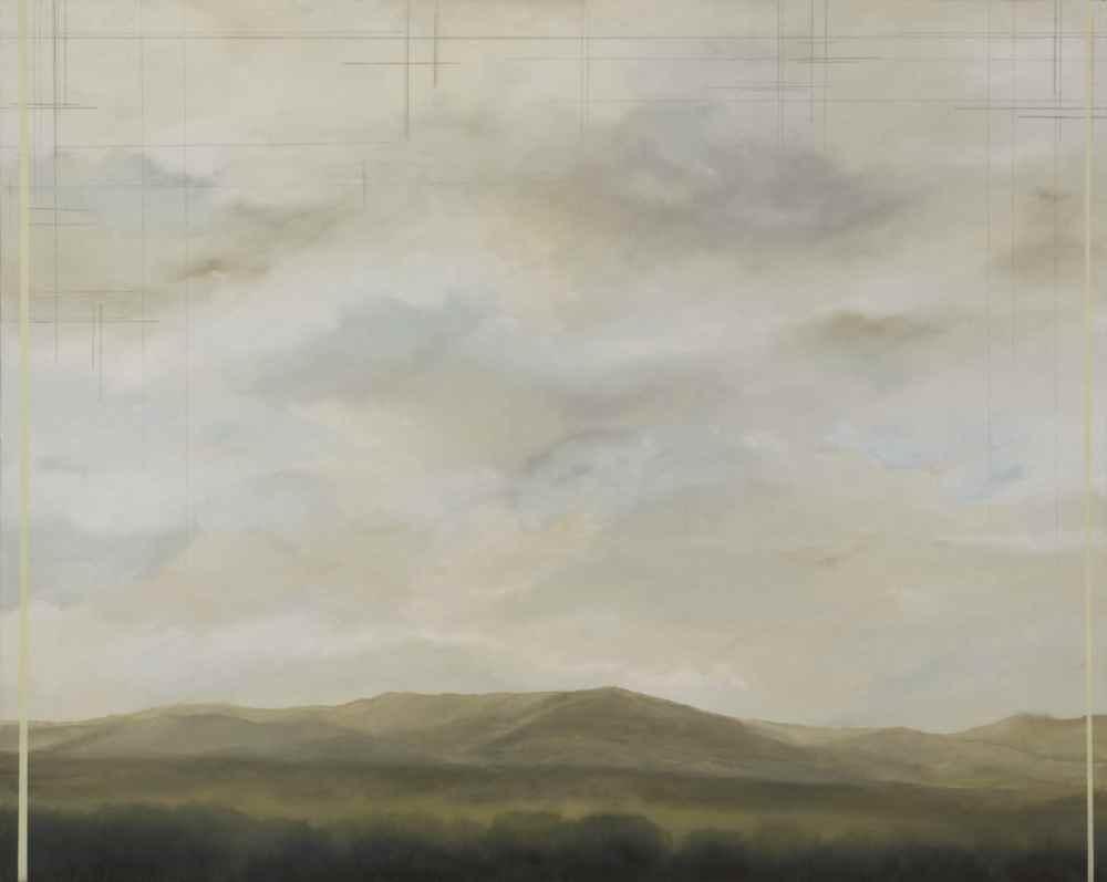 """Cristina Fernández Núñez """"Paisaje""""/óleo sobre lienzo/160x130cm/2011"""