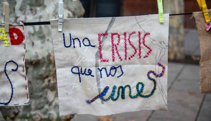 Fotografía Claudia Machuca. Mil Agujas por la Dignidad Barcelona, España
