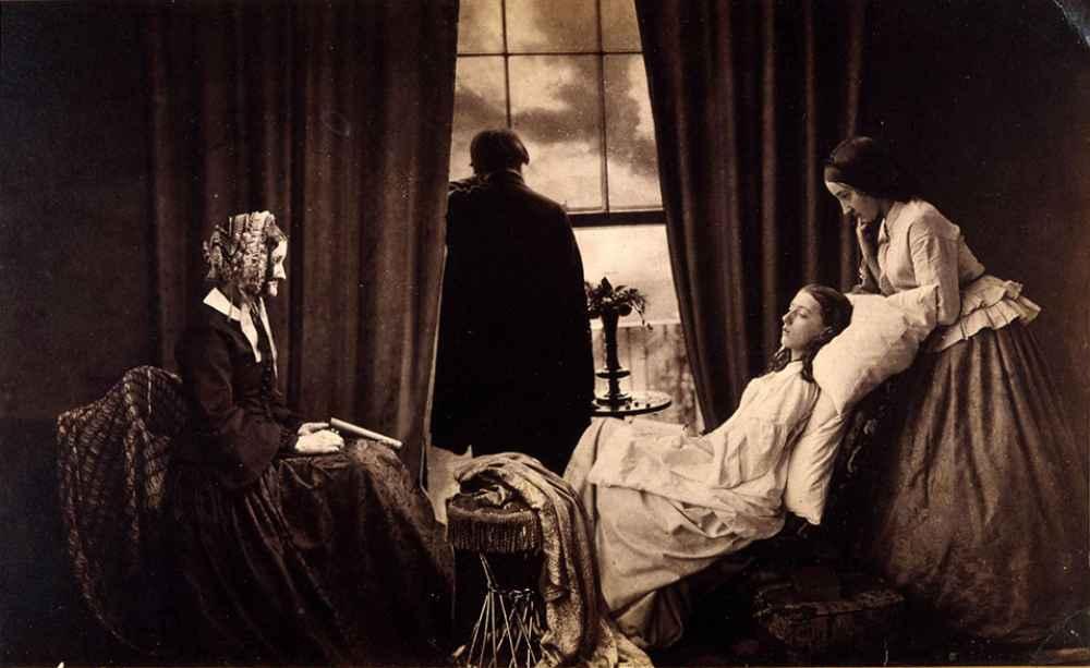 Henry Peach Robinson Fading away, 1858 Albúmina de plata a partir de negativo de vidrio Metropolitan Art Museum. The Royal Photographic Society at the National Media Museum, Bradford.
