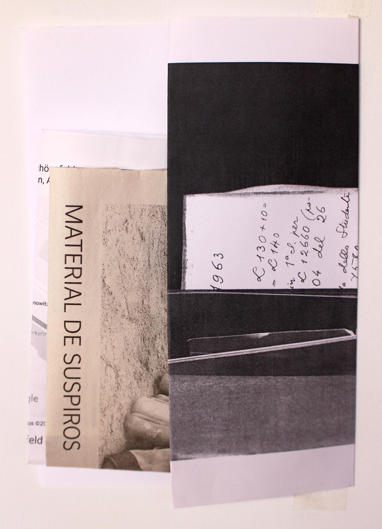 SILVIA GARCÍA GONZÁLEZ Collage. Rastro Material. Mal de archivo 2019