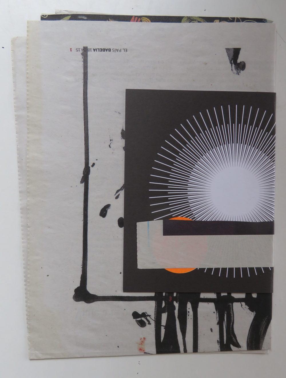 SILVIA GARCÍA GONZÁLEZDetalle de uno de los collages de Rastro Material. 2018