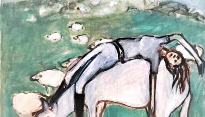 """BREZA CECCHINI RÍU """"Galope"""", Óleo sobre lienzo, 100 x 81 cm , 2017"""