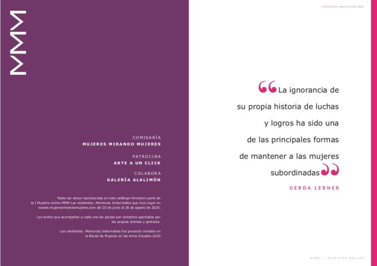 Catálogo las resilientes | exposición online | mujeres mirando Mujeres