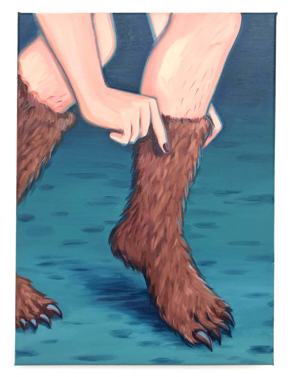 Get dressed, oil on canvas, 40x30cm, 2020 Lise Stoufflet   Alba Herrero   Mujeres Mirando Mujeres