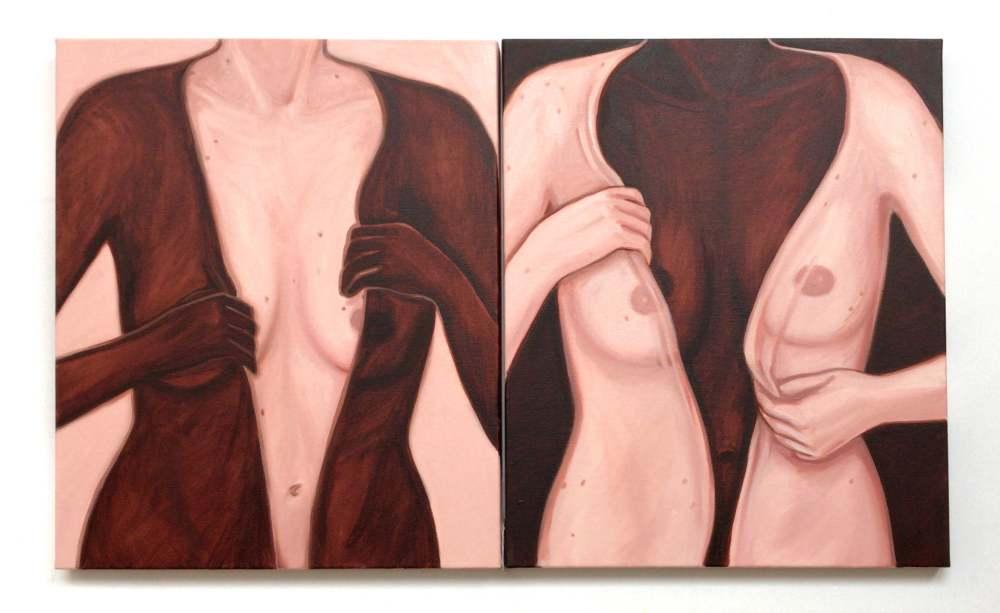 Identities, oil on canvas, 60x100cm, 2020 Lise Stoufflet   Alba Herrero   Mujeres Mirando Mujeres