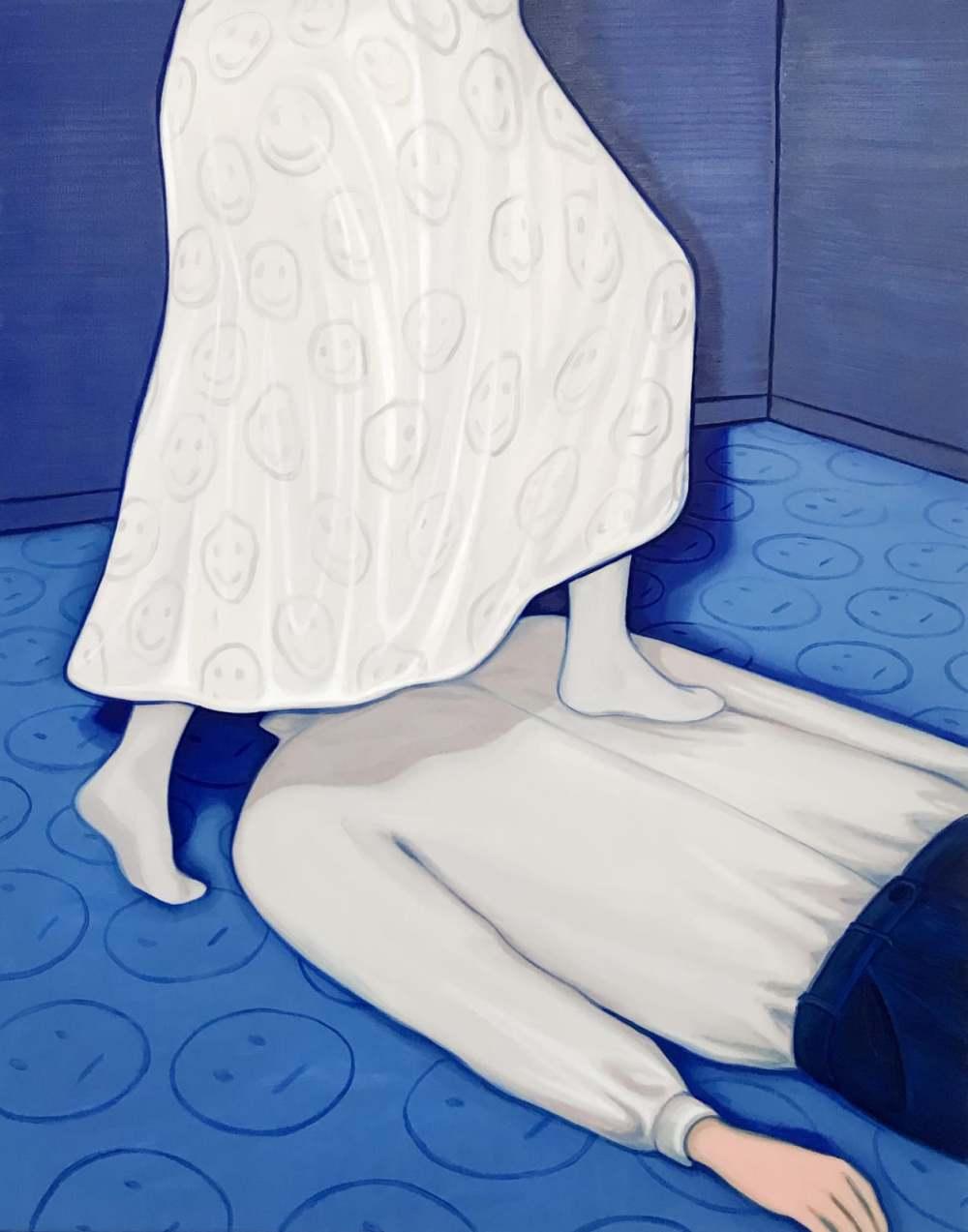Relationship, oil on canvas, 140x110cm, 2019 Lise Stoufflet   Alba Herrero   Mujeres Mirando Mujeres