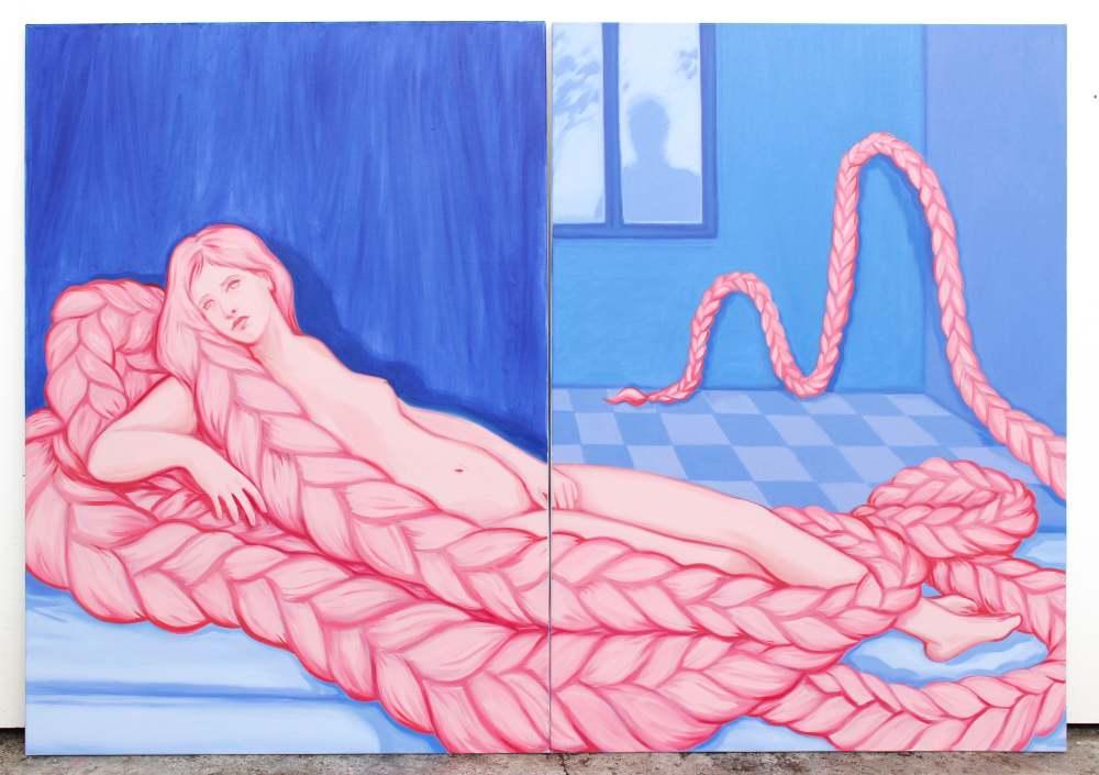 Une autre Venus, oil on canvas, 130x100cm, 2018|Lise Stoufflet | Alba Herrero | Mujeres Mirando Mujeres