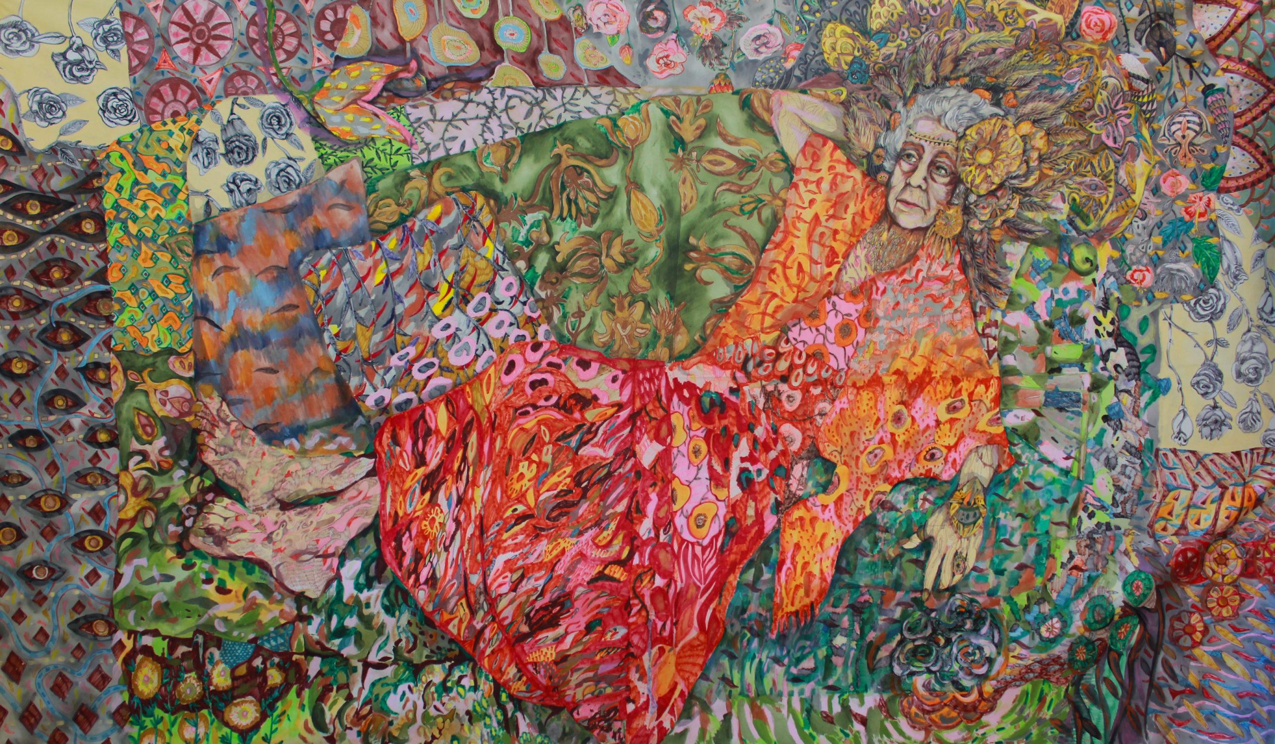 «La Coquetona»»/acrílico, técnicas mixtas sobre tela, 2012 CITLALLY MIRANDA. YLONKA NACIDIT-PERDOMO | VII MUJERES MIRANDO MUJERES