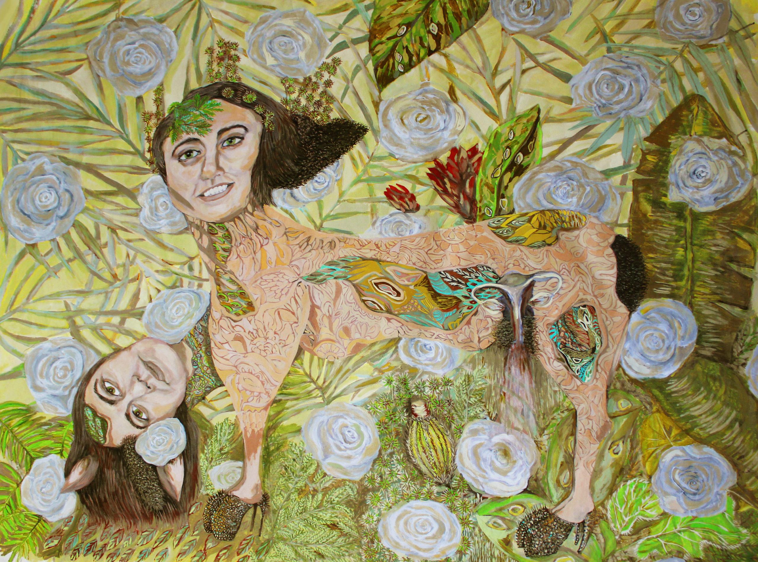 «Todo tipo de monte y mi monte» pintura, acrílicos sobre canvas, 2010 CITLALLY MIRANDA. YLONKA NACIDIT-PERDOMO   VII MUJERES MIRANDO MUJERES