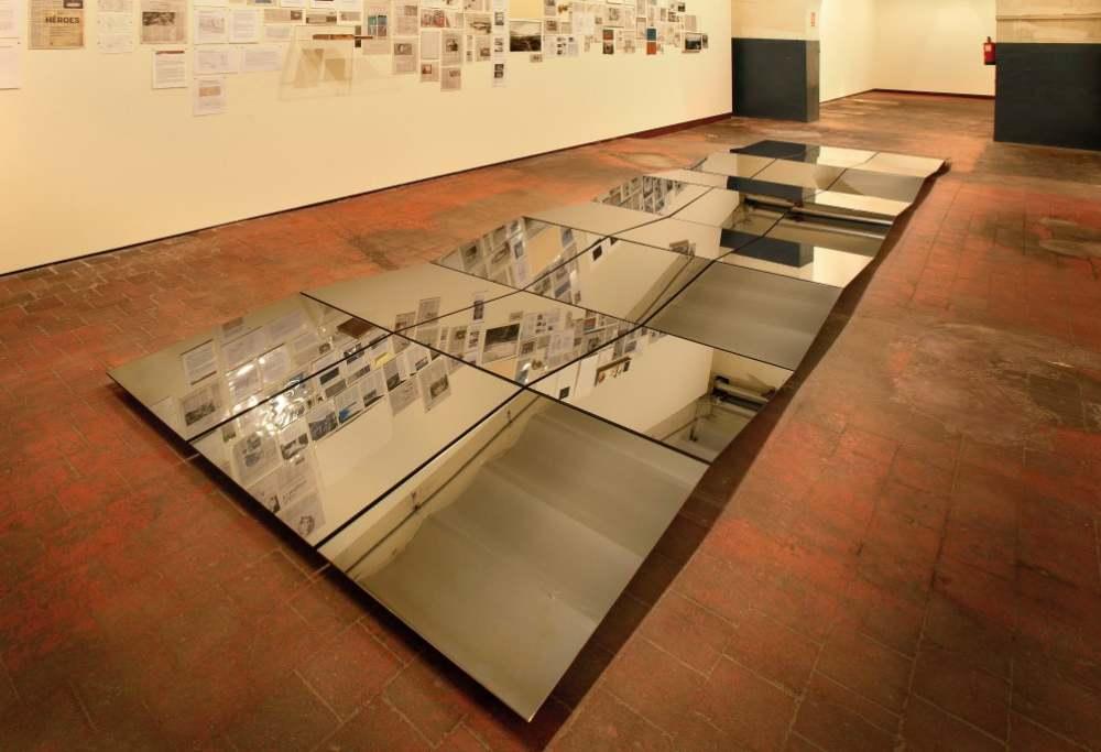 Montaje de «Lo invisible» en el espacio «La Fragua» de Tabacalera Madrid.
