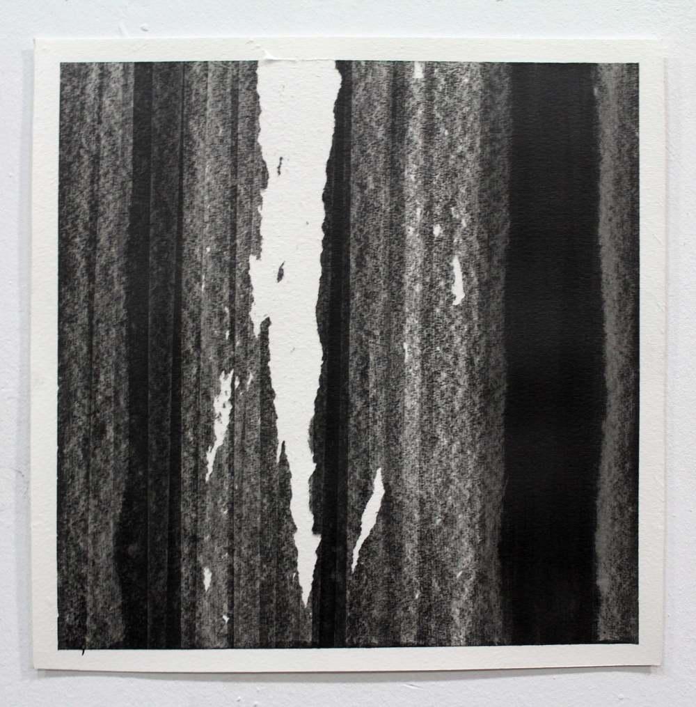 Acies graphite I, 2020. Grafito sobre papel Montval 300grm2. 38 x 38 cm.