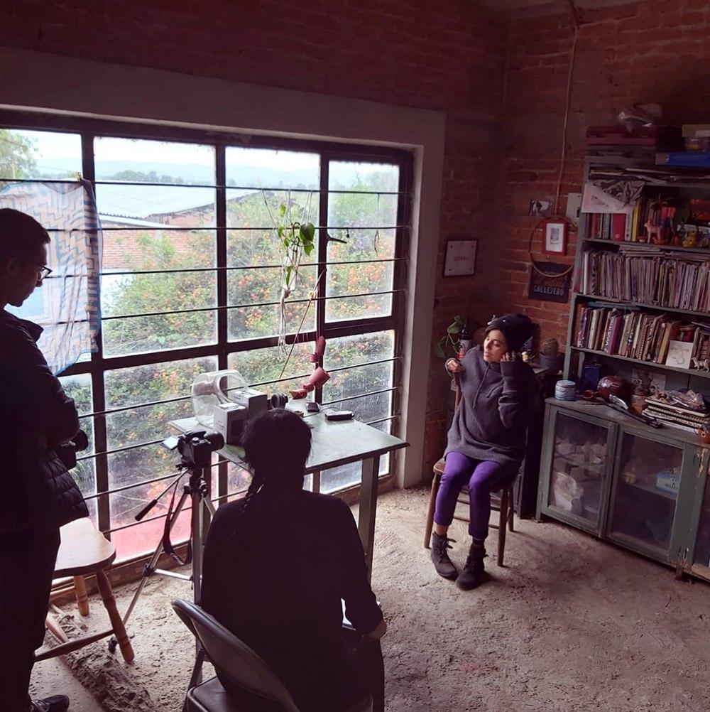 Chispillatronik Entrevistando a Gavriela González , 2020. | Mujeres Creando: Montaje de lo Político |CLAUDIA CASTELAN | VII MUJERES MIRANDO MUJERES