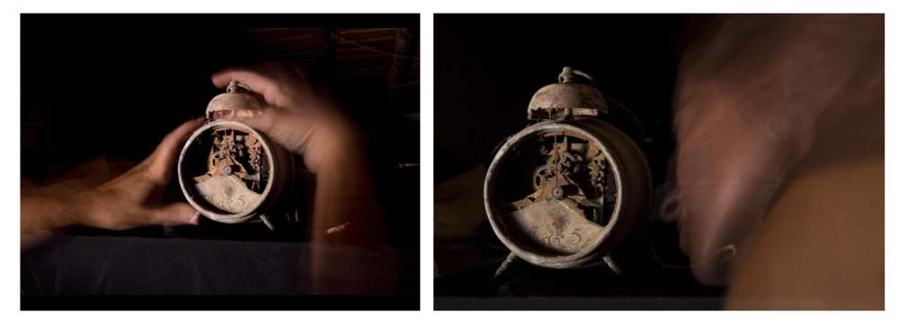 Detener y detonar el tiempo. Serie In Aeternum. Fotoperformance. 2019