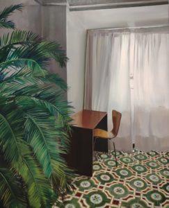 Interior con palmera_Lara Pintos   Mujeres Mirando Mujeres   Lucía Carballeda